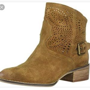 Naughty Monkey Tan cut out buckle ankle Bootie